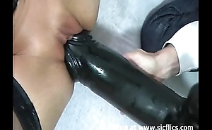Brute cunt needs a monster black dildo