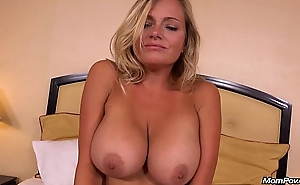 Hot domineer MILF does first porn for MomPov