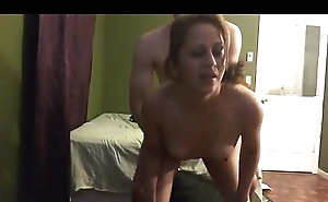 Cougar fucked hard by young lover