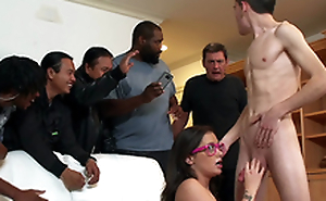 Teen Gia Paige takes a facial added to gets caught by her daddy