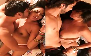 Today Exclusive-Sexy Desi Maid Sexual connection With 2 Overcome Friend