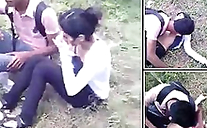 Desi College Couple Throw a monkey wrench into the machinery Outdoor