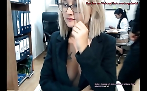 Blonde Cam Thot Caught By Brass hats Masturbating Live Onwards be beneficial to Coworker